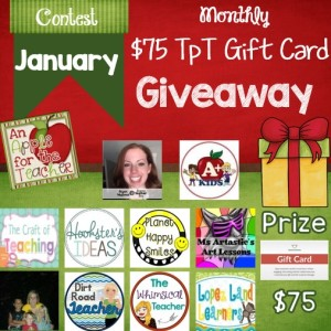 January Monthly Giveaway ad