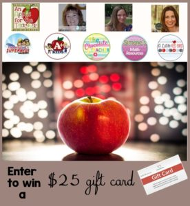 $25 TpT Gift Card Giveaway An Apple for the Teacher May 28 2016