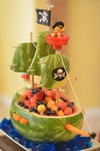 Pirate Fruit Salad Boat