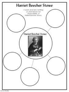 Harriet Beecher Stowe: Abolitionist Freebie from A+ Kids Bloggin'
